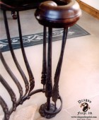 Wrought Iron Forged Railing with Volute Detail