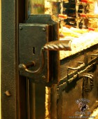 Forged Wine Cellar Door with Functional Lock  #3