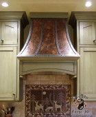 Copper and Steel Stove Hood
