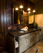 Custom Mirrors with Copper Wall and Strapping