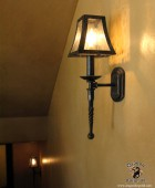 Arts and Crafts Style Light Sconce