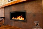 Rusted Steel Plate Fire Surround