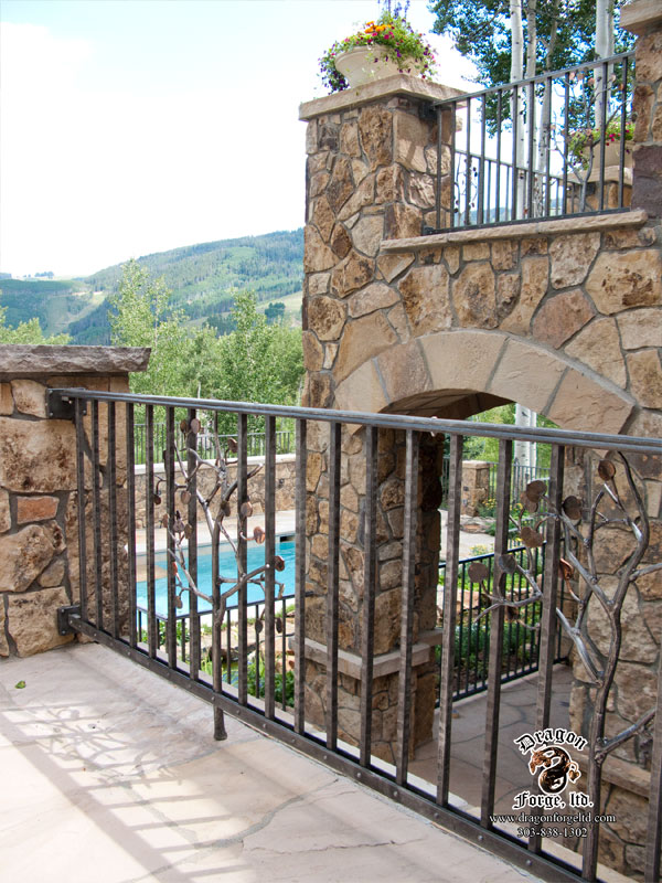 Forged-Aluminium-Railing-with-Aspen-Tree-Decorative