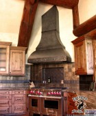custom range steel hood