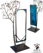 Forged Aspen Tree with Full Bodied Mirror