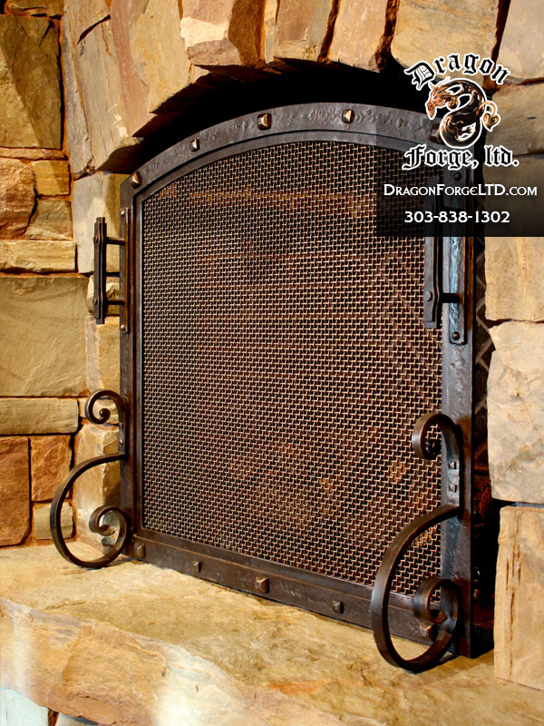 Great-Northern-Lodge-dragon-forge-modern-rustic-fireplace-screen