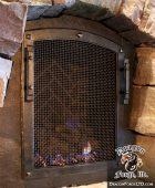 GNL hallway fireplace door Forged by Dragon Forge LTD