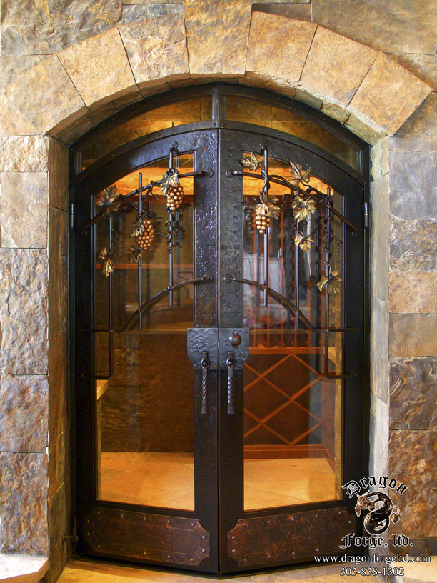 Complete Custom Wine Cellar and Forged Grill with Grapes  #5