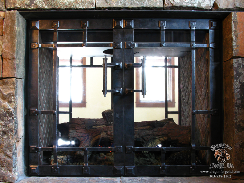 Fireplace Doors for sealed fire box