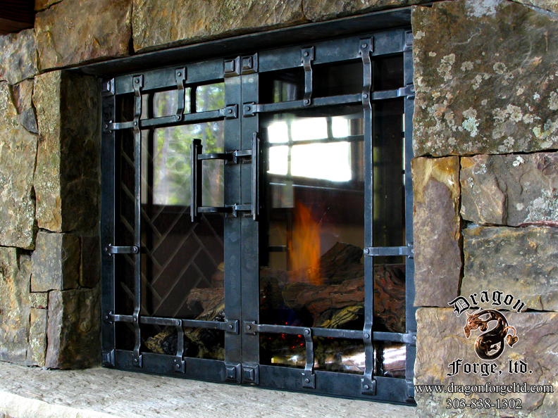 Fireplace Doors for a sealed fire box