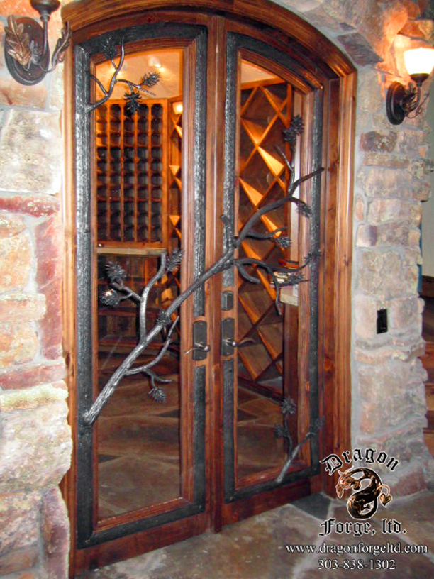 Wine Cellar Door featuring Pine Cones  #12