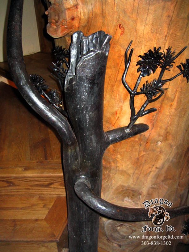 Forged Pine Tree Null Post