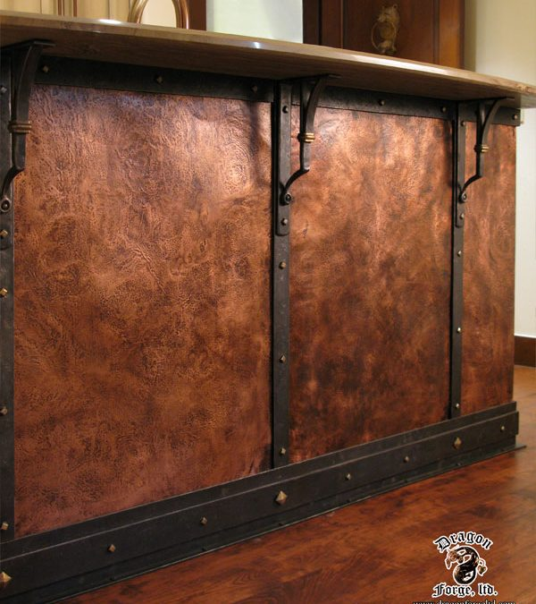 Forged Copper Wall with Mounts