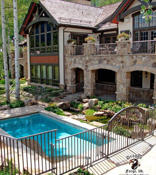 Forged Aluminum Railing with Functional Gates