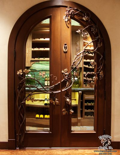 Hand-Forged-Iron-Wine-Cellar-Door-Grape-Vine-Grill